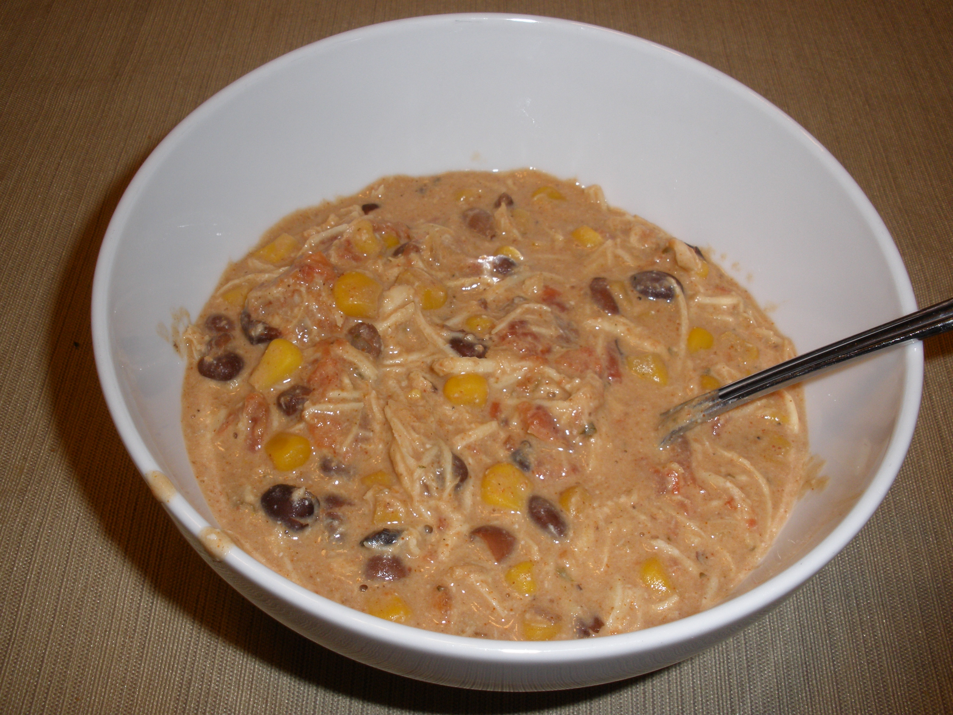 White Chicken Cream Cheese Chili Recipe — Dishmaps